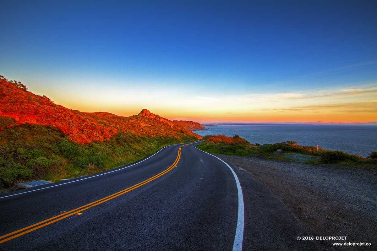 Follow the sunset on the pacific highway Highway