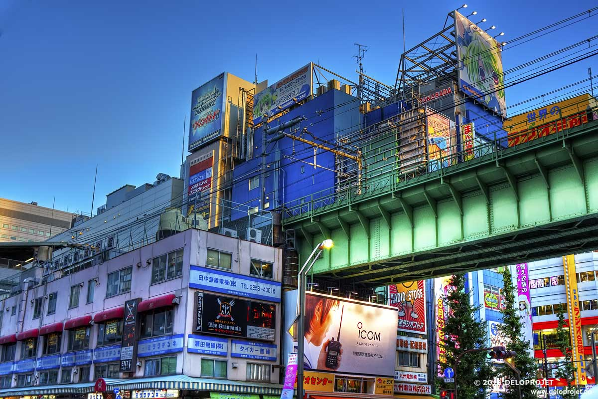 Tokyo modern architecture makes the city photogenic