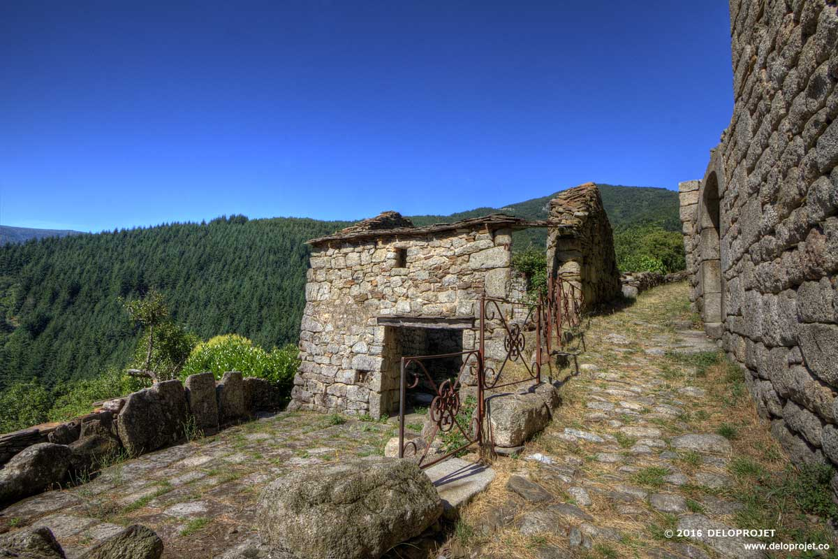 The picturesque village Le Pouget locate on the hill