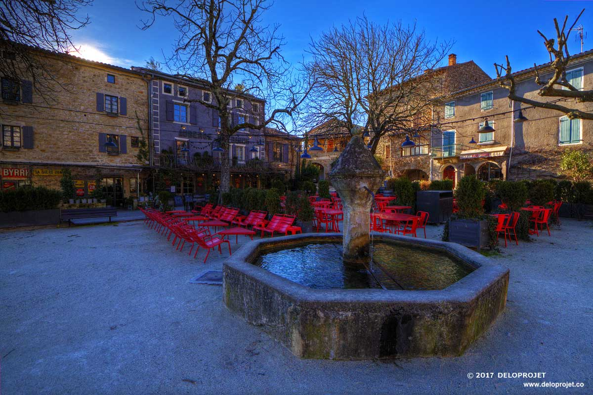 Movie of Banne the village of character of Ardeche France